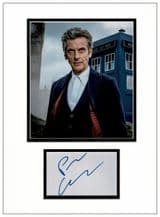 Peter Capaldi Autograph Display - Doctor Who