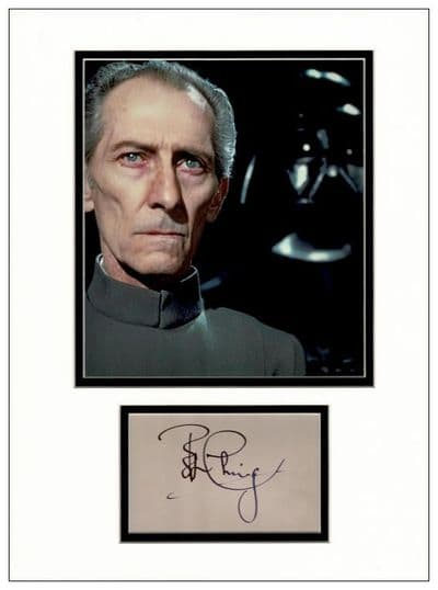 Peter Cushing Autograph Signed Display - Star Wars