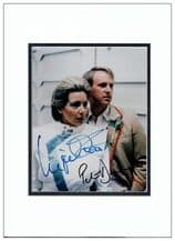 Peter Davison & Ingrid Pitt Autograph Photo Signed - Dr Who