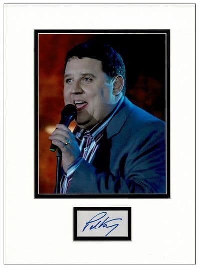 Peter Kay Autograph Signed Display