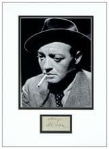 Peter Lorre Autograph Display
