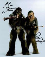 Peter Mayhew and Michael Kingma Autograph Signed Photo - Star Wars
