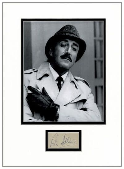 Peter Sellers Authentic Autograph Pink Panther Inspector Clouseau