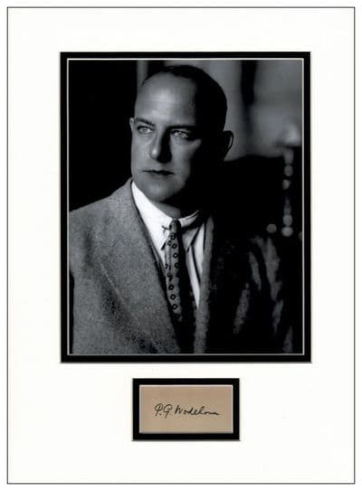 PG Wodehouse Autograph Display