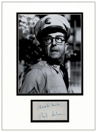 Phil Silvers Autograph Signed - Sergeant Bilko