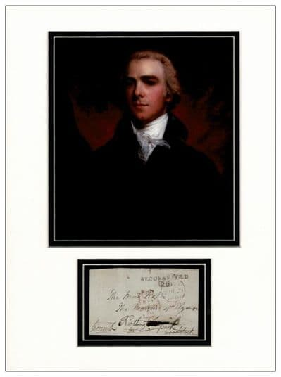 Prime Minister William Grenville Autograph Display