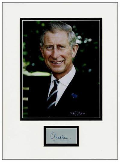 Prince Charles Autograph Display