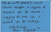 Princess Diana Autograph Signed Letter