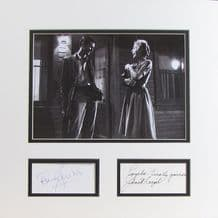 Psycho Autograph Signed Display - Perkins & Leigh