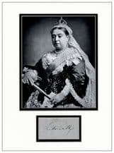 Queen Victoria Autograph Display