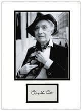 Quentin Crisp Autograph Signed Display