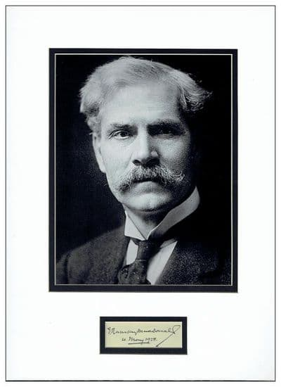 Ramsay MacDonald Autograph Signed Display For Sale