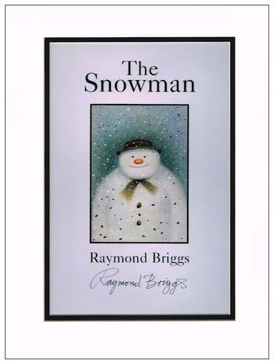 Raymond Briggs Autograph Photo Snowman For Sale