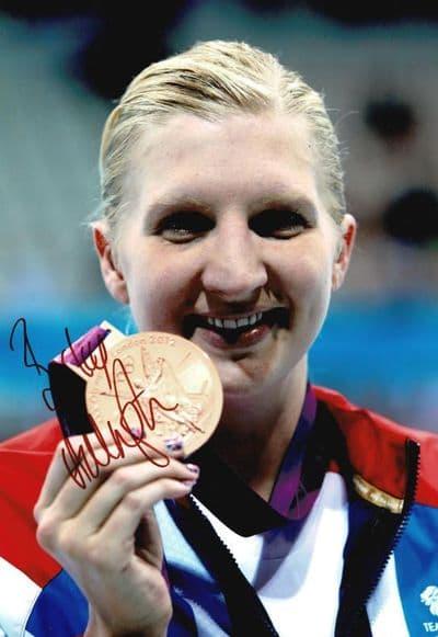 Rebecca Adlington Autograph Signed Photo - Swimming
