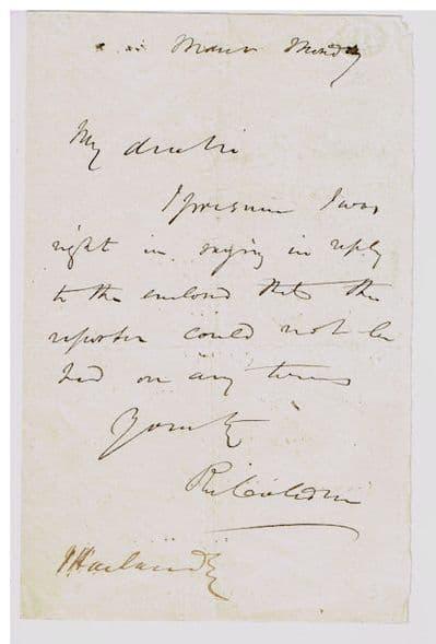 Richard Cobden Autograph Letter Signed For Sale