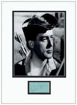 Richard Greene Autograph Display - Robin Hood
