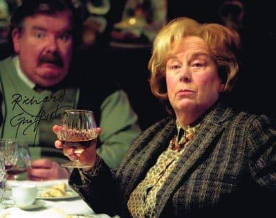 Richard Griffiths Autograph Signed Photo - Harry Potter