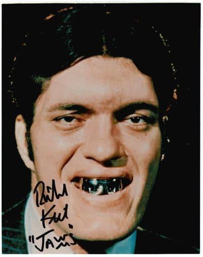 Authentic Richard Kiel Autograph Photo James Bond Jaws