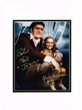 Richard Kiel & Blanche Ravalec Autograph Signed Photo - Moonraker