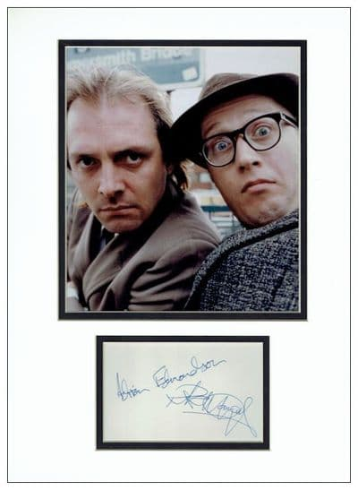 Rik Mayall & Adrian Edmondson Autograph Signed Display - Bottom