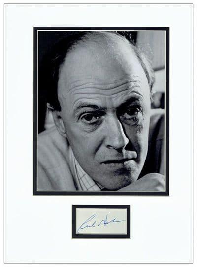 Roald Dahl Autograph Signed Display