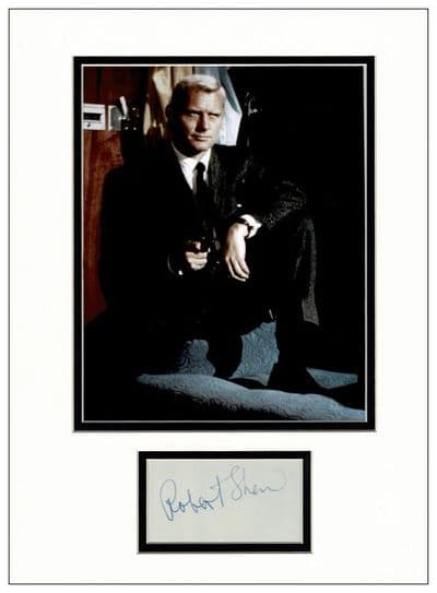 Robert Shaw Autograph Signed Display