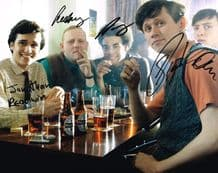 Rock and Chips Cast Autograph Signed Photo