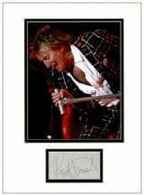 Rod Stewart Autograph Signed Display
