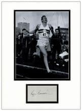 Roger Bannister Autograph Signed Display