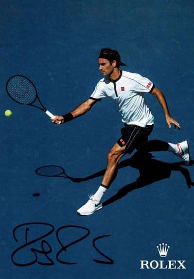 Roger Federer Autograph Signed Photo