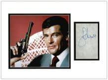 Roger Moore Autograph - James Bond