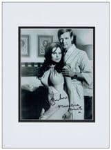 Roger Moore Madeline Smith Autograph Photo - Live and Let Die