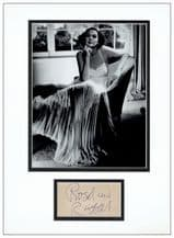 Rosalind Russell Autograph Signed Display