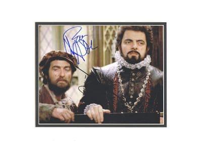 Rowan Atkinson & Tony Robinson Autograph Signed Photo - Blackadder
