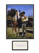 Roy Rogers Autograph Signed