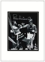 Rubin Carter & Emile Griffith Autograph Signed Photo