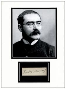Rudyard Kipling Autograph Signed Display