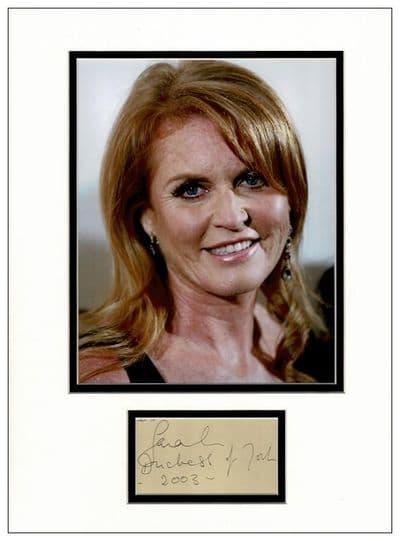 Sarah, Duchess of York Autograph Display
