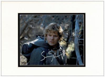 Sean Astin Autograph Signed Photo Samwise Gamgee LOTR
