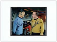 Shatner & Nimoy Autograph Signed Photo - Star Trek