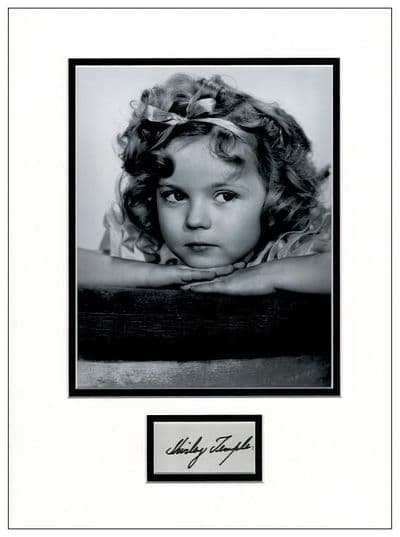 Shirley Temple Autograph Signed Display