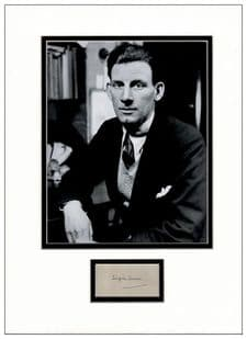 Siegfried Sassoon Autograph Signed Display