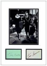 Some Like It Hot Autograph Display - Tony Curtis & Jack Lemmon