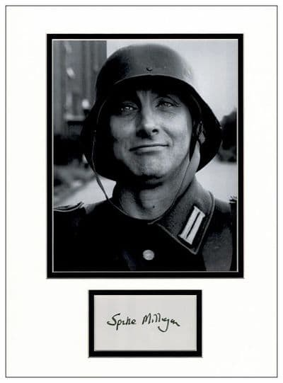 Spike Milligan Autograph Signed Display