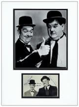 Stan Laurel and Oliver Hardy Autograph Photo