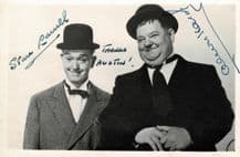 Stan Laurel & Oliver Hardy Autograph Signed Photo