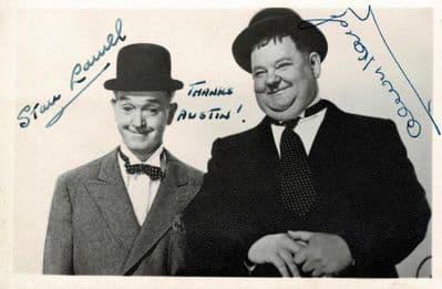 Stan Laurel & Oliver Hardy Autograph Signed Photo