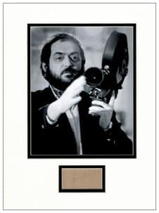 Stanley Kubrick Autograph Signed Display