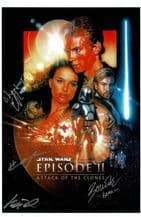 Star Wars Attack Of The Clones  Autograph Signed Photo