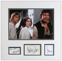 Star Wars Autograph Signed Display - Fisher, Hamill and Ford